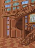 Biblioteka w Princess pałac royalty ilustracja