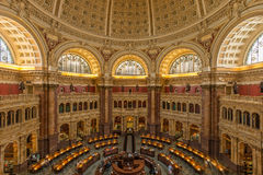 Biblioteki Kongresu wnętrze obraz royalty free