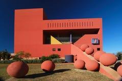 Bibliothèque avec des sphères Photographie stock