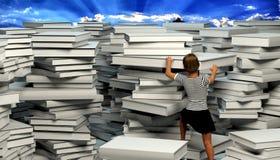 Bibliothèque comme chemin à l'éclaircissement illustration de vecteur