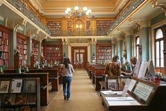 Bibliothèque démodée Photographie stock