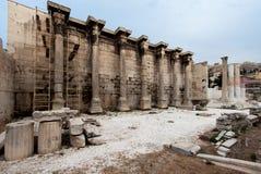 Bibliothèque d'Adrian Athènes Grèce photos stock