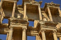 Bibliothèque d'Ephesus de Celsus Images libres de droits