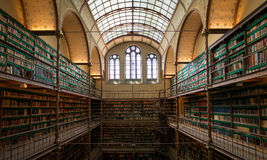 Bibliothèque dans Rijksmuseum, Amsterdam Image libre de droits