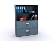 Bibliothèque de bureau avec des fichiers illustration de vecteur