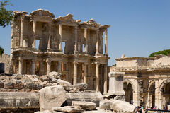 Bibliothèque de Celsius, Ephesus Images stock