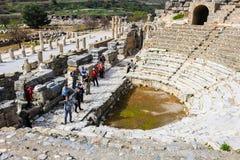 Bibliothèque de Celsus dans Ephesus, Turquie Photographie stock libre de droits