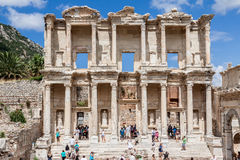 Bibliothèque de Celsus Ephesus Images stock