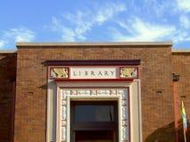 bibliothèque de construction Photographie stock