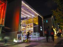 Bibliothèque de musique de Hyundai conçue par la lune-gyu de Choi et connue pour sa collection de vinyle, illuminé image stock