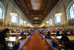 Bibliothèque de New York City Image stock