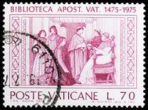 Bibliothèque de Vatican, serie, vers 1975 image libre de droits