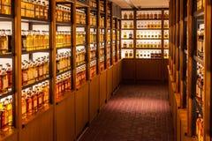Bibliothèque de whiskey de Yamazaki image stock