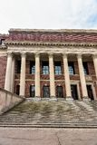 Bibliothèque de Widener à l'Université d'Harvard Cambridge mA de yard de Harvard Image libre de droits