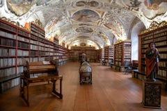 Bibliothèque du baroque de monastère du ` s de Strahov