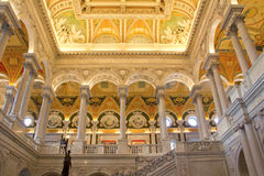 Bibliothèque du Congrès images libres de droits