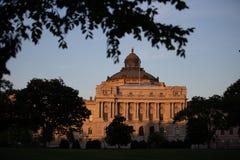 Bibliothèque du Congrès des Etats-Unis le bâtiment image stock