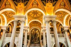 Bibliothèque du Congrès, Washington, C.C, Etats-Unis Image libre de droits