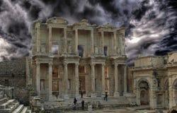 Bibliothèque du grec ancien Photographie stock