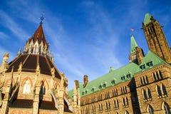 Bibliothèque du Parlement canadien à Ottawa, Canada image libre de droits