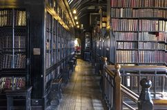 Bibliothèque Manchester Angleterre de Chetham's 18 avril 2018 photographie stock