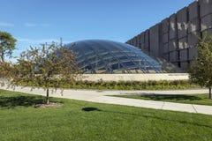 Bibliothèque moderne Chicago Images libres de droits