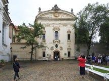 Bibliothèque monastique. Monastère de Strahov Photo stock