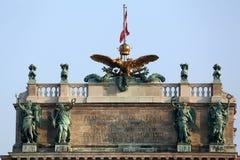 Bibliothèque nationale autrichienne et le centre de congrès de Hofburg sur Heldenplatz dans Hofburg vienne Photographie stock