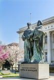 Bibliothèque nationale et momument bulgares de Cyrille et de Methoduis photo libre de droits