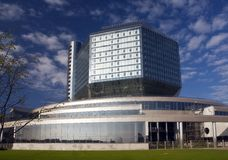 Bibliothèque nationale. Minsk. Le Belarus. Une vue générale # Photographie stock libre de droits