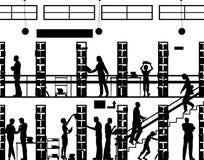 Bibliothèque publique illustration de vecteur