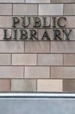 Bibliothèque publique Photos stock