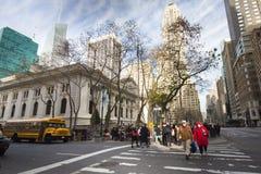 Bibliothèque publique de New York City Photos stock
