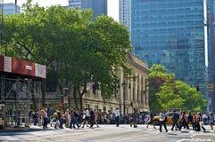 Bibliothèque publique de NY Photo stock