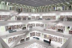 Bibliothèque publique moderne images libres de droits