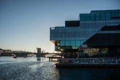 Bibliothèque royale dans le habor de Copenhague denmark photographie stock libre de droits