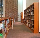 Bibliotheek 3 van de school stock afbeeldingen