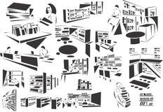 Bibliotheek vector illustratie