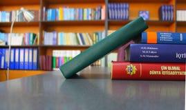 Bibliotheek bij Universiteit Stock Afbeelding