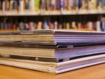 Bibliotheek, boeken Stock Foto