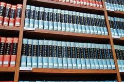 Bibliotheek, boekenrek royalty-vrije stock foto