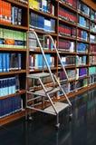 Bibliotheek, boekenrek stock fotografie