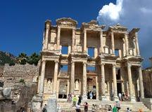 Bibliotheek in Ephesus Stock Foto
