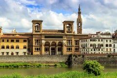 Bibliotheek in Florence stock afbeelding