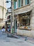Bibliotheek ook restaurant in het historische centrum van Avignon Stock Fotografie