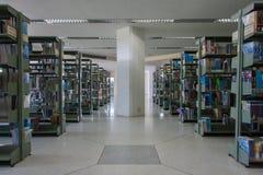 Bibliotheek op de Universiteit van Koningsmongkut van Technologie Noord-Bangkok Stock Fotografie