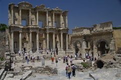 Bibliotheek van Celsus in Ephesus, Turkije Royalty-vrije Stock Fotografie