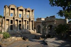 Bibliotheek van Celsus, Ephesus, Turkije Royalty-vrije Stock Afbeeldingen