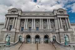 Bibliotheek van Congres De Grootste Bibliotheek in de Verenigde Staten stock afbeelding