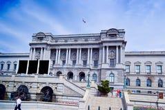 Bibliotheek van Congres tegen Blauwe Hemelen Royalty-vrije Stock Fotografie